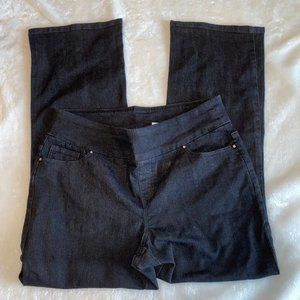Denim&Co Black pull on jeans 12P NWOT